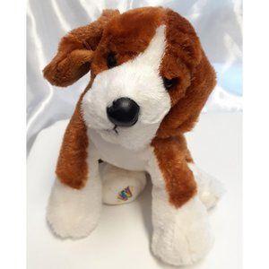 Ty Brutus Dog Red Collar Beanie Buddy Baby Plush